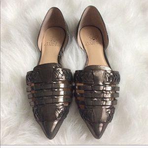 Vince Camino gun metal ballerina flat shoes